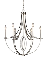 Picture for category Elk 10121/6 Dione Chandeliers 25in Polished Nickel 6-light