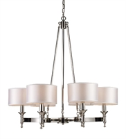 Picture for category Elk 10123/6 Pembroke Chandeliers 31in Polished Nickel 6-light