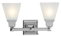 Picture for category Livex Lighting 1032-05 Bath Lighting 17in Chrome Steel 2-light