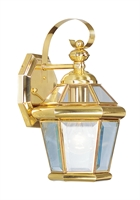 Picture for category Livex 2061-02 Georgetown Outdoor Wall Sconces 7in Polished Brass 1-light