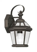 Picture for category Livex 2061-07 Georgetown Outdoor Wall Sconces 7in Bronze 1-light