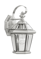 Picture for category Livex 2061-91 Georgetown Outdoor Wall Sconces 7in Brushed Nickel 1-light
