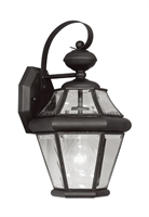 Picture for category Livex 2161-04 Georgetown Outdoor Wall Sconces 8in Black 1-light