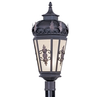 Picture for category Livex 2198-07 Berkshire Outdoor Post Light 10in Bronze 1-light