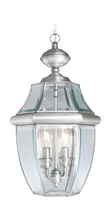 Picture for category Livex 2255-91 Monterey Outdoor Pendant 11in Brushed Nickel 2-light