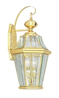Picture for category Livex 2261-02 Georgetown Outdoor Wall Sconces 10in Polished Brass 2-light