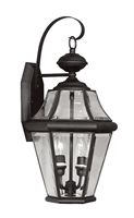 Picture for category Livex 2261-04 Georgetown Outdoor Wall Sconces 10in Black 2-light