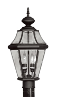 Picture for category Livex 2264-04 Georgetown Outdoor Post Light 10in Black 2-light