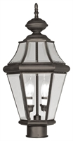 Picture for category Livex 2264-07 Georgetown Outdoor Post Light 10in Bronze 2-light