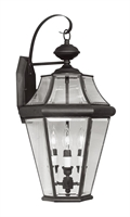 Picture for category Livex 2361-04 Georgetown Outdoor Wall Sconces 13in Black 3-light