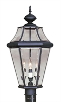 Picture for category Livex 2364-04 Georgetown Outdoor Post Light 13in Black 3-light