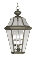 Picture for category Livex 2365-07 Georgetown Outdoor Pendant 13in Bronze 3-light