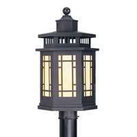 Picture for category Livex 2394-07 Mirror lake Outdoor Post Light 11in Bronze 1-light