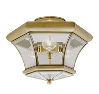 Picture for category Livex 4083-01 Beacon hill Flush Mounts 13in Antique Brass 3-light