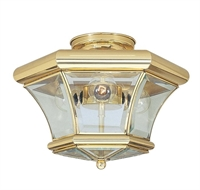 Picture for category Livex 4083-02 Beacon hill Flush Mounts 13in Polished Brass 3-light