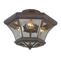 Picture for category Livex 4083-07 Beacon hill Flush Mounts 13in Bronze 3-light