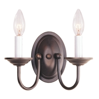 Picture for category Livex 4152-07 Home basics Wall Sconces 10in Bronze 2-light