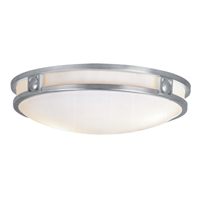Picture for category Livex Lighting 4488-91 Flush Mounts 16in Brushed Nickel Steel 3-light