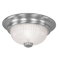 Picture for category Livex 7417-91 Beacon hill Ceiling Medallion Lighting 12in Brushed Nickel