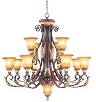 Picture for category Livex 8559-63 Villa verona Chandeliers 40in 12-light