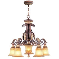 Picture for category Livex 8575-63 Villa verona Chandeliers 27in 5-light