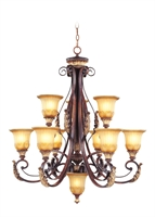Picture for category Livex 8579-63 Villa verona Chandeliers 33in 9-light
