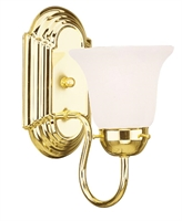 Picture for category Livex 1071-02 Home basics Bath Lighting 5in Polished Brass 1-light