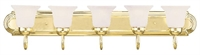 Picture for category Livex 1075-02 Home basics Bath Lighting 36in Polished Brass 5-light