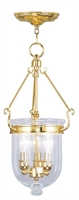 Picture for category Livex 5083-02 Jefferson Pendants 10in Polished Brass 3-light