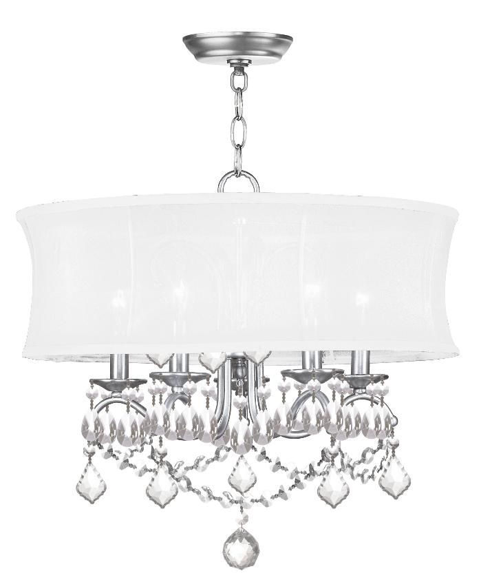 Livex 6305 91 Newcastle Chandeliers 20in Brushed Nickel 5 Light