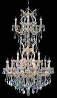 Picture for category Elegant Lighting 2800D30SG/RC Chandeliers Maria theresa