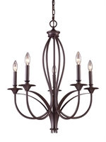 Picture for category Elk 61032-5 Medford Chandeliers 26in Oiled Bronze 5-light