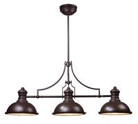 Picture for category Elk 66135-3 Chadwick Island Lighting 47in Oiled Bronze 3-light