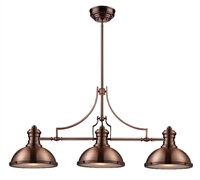 Picture for category Elk 66145-3 Chadwick Island Lighting 47in Antique Copper 3-light