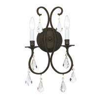 Picture for category Crystorama 5012-EB-CL-MWP Ashton Wall Sconces 11in English Bronze Steel 2-light