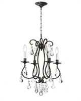 Picture for category Crystorama 5014-EB-CL-MWP Ashton Mini Chandeliers 16in English Bronze Steel