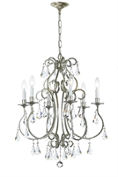 Picture for category Crystorama 5016-OS-CL-MWP Ashton Chandeliers 22in Olde Silver Steel 6-light