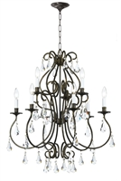 Picture for category Crystorama 5019-EB-CL-MWP Ashton Chandeliers 26in English Bronze Steel 9-light