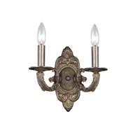 Picture for category Crystorama 5122-VB Paris flea market Wall Sconces 11in Venetian Bronze 2-light