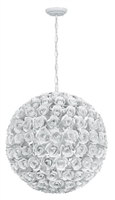Picture for category Crystorama 539-WW Cypress Chandeliers 20in Wet White Wrought Iron 5-light