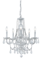 Picture for category Crystorama 1076-WW-WH-MWP Envogue Chandeliers 20in Wet White Glass 6-light