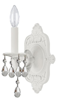 Picture for category Crystorama 5021-WW-CL-MWP Paris flea market Wall Sconces 6in Wet White 1-light