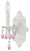 Picture for category Crystorama 5021-WW-RO-MWP Paris flea market Wall Sconces 6in Wet White 1-light