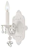 Picture for category Crystorama 5201-WW-CLEAR Paris flea market Wall Sconces 6in Wet White 1-light