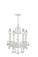 Picture for category Crystorama 5514-WW-CL-MWP Paris flea market Mini Chandeliers 11in Wet White
