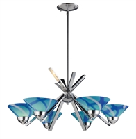 Picture for category Elk 1475/6CAR Refraction Chandeliers 26in Polished Chrome 6-light