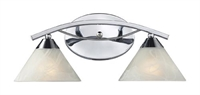 Picture for category Elk 17021/2 Elysburg Vanity Lighting 18in Polished Chrome 2-light