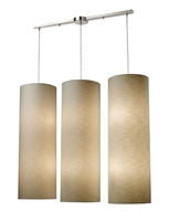 Picture for category Elk 20160/12L Fabric cylinders Pendants 43in Satin Nickel 12-light