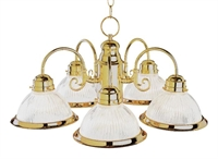 Picture for category Trans Globe 1090 AW Back to basics Chandeliers 23in Antique White Metal 5-light