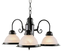 Picture of Trans Globe Lighting 1098 BN Chandelier from the Back to basics collection